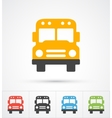 Bus trendy color icons vector image