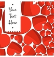 Celebratory Background of Bright Red Hearts vector image