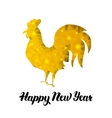 Chinese New Year Gold Postcard vector image