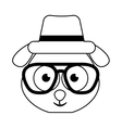 cute dog character hipster style vector image