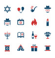 hanukkah icon set vector image