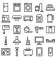 Home Appliances linear icons vector image