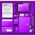 Purple Corporate ID mockup vector image