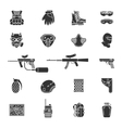 silhouette paintball or airsoft icon set vector image