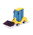 wheel loader cartoon funny and comic style vector image