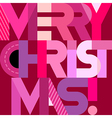 Merry Christmas decorative text vector image vector image