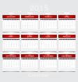 Simple 2015 year calendar vector image vector image
