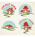 locally farm vector image vector image