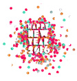 Happy new year 2016 confetti party holiday poster vector image