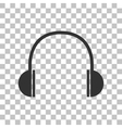Headphones sign  Dark gray icon on vector image