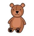 bear teddy cute icon vector image