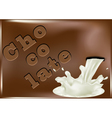 chocolate and pouring milk vector image