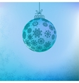 Christmas background with blue ball EPS8 vector image