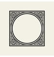Elegant frame in Victorian style The circle vector image