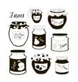 Fruit Jam set vector image