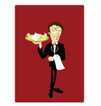 Funny Waiter vector image
