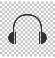 Headphones sign Dark gray icon on vector image