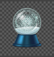 realistic detailed 3d snow globe vector image