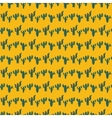 Seamless pattern with green cactuses on vector image