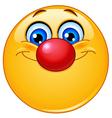 Emoticon with clown nose vector image vector image