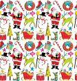 Christmas retro wallpaper vector image vector image