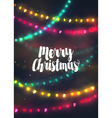 Cozy colorful Christmas lights garlands vector image vector image