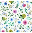 Seamless pattern with Beautiful flowers and leaves vector image vector image