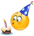 birthday emoticon vector image
