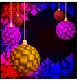 Christmas background Festive balloons vector image