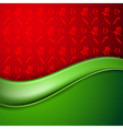 Christmas blank with christmas pattern vector image