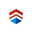 cube line 3D construction logo vector image