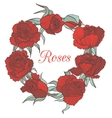 decorative floral garland with red roses vector image