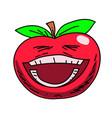 happy tomato cartoon hand drawn image vector image