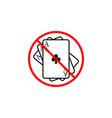 no gambling line icon prohibition sign forbidden vector image