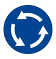 Roundabout crossroad sign vector image