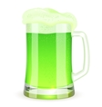 Saint Patricks Day pint of green beer vector image