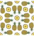 Seamless fruit pattern of pineapple vector image