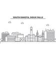 south dakota sioux falls architecture line vector image