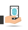 hand holding security icon vector image