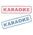 karaoke textile stamps vector image