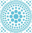 seamless blue polka abstract pattern vector image