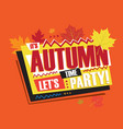autumn abstract vintage retro banner sign vector image vector image