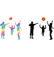 Children play volleyball vector image