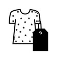 contour clothes with tag to shopping new style vector image