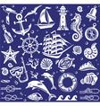 White Summer sea icons set vector image