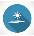 sun and sea icon vector image