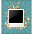 Decorative vintage background with photo vector image vector image