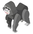 3d design for cute gorilla vector image