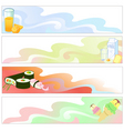 food banners vector image vector image
