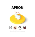 Apron icon in different style vector image